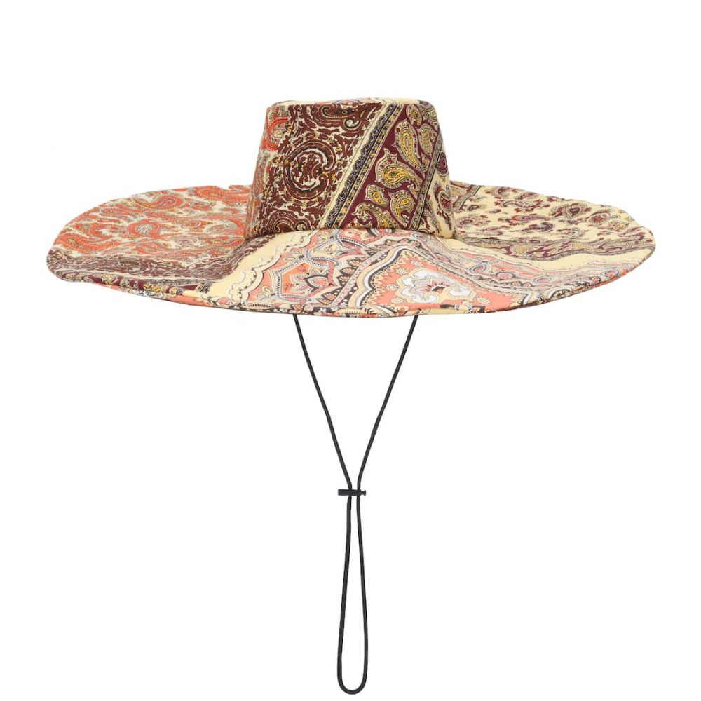 エトロ Etro レディース 帽子【Paisley-printed cotton hat】
