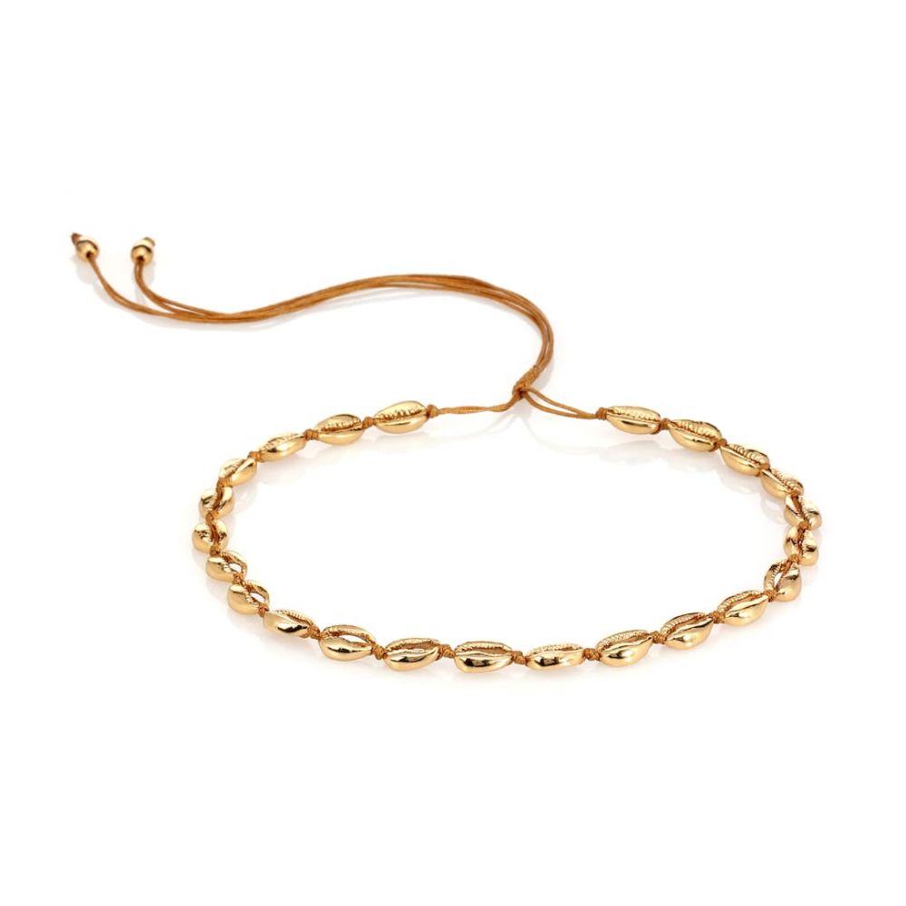 トフム TOHUM Design レディース ジュエリー・アクセサリー ネックレス【Concha Puka 22kt gold-plated necklace】