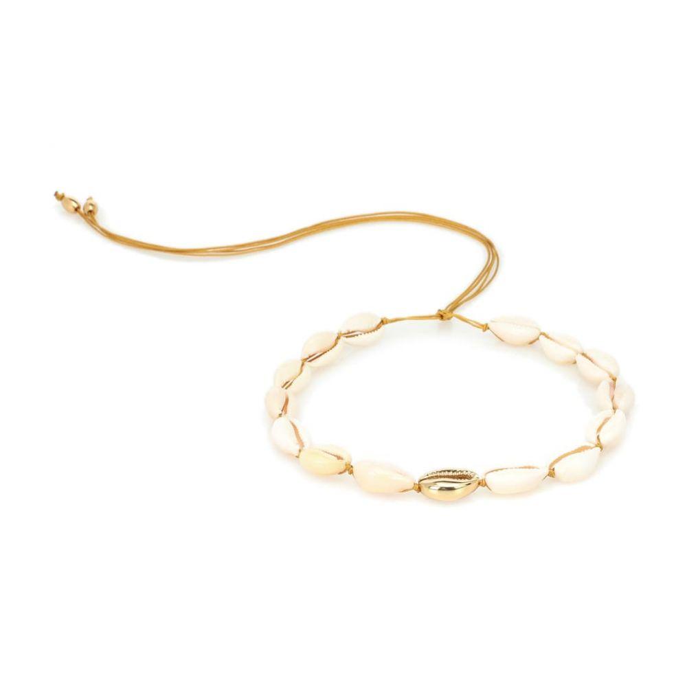 トフム TOHUM Design レディース ジュエリー・アクセサリー ネックレス【Puka Shell 22kt gold-plated necklace】