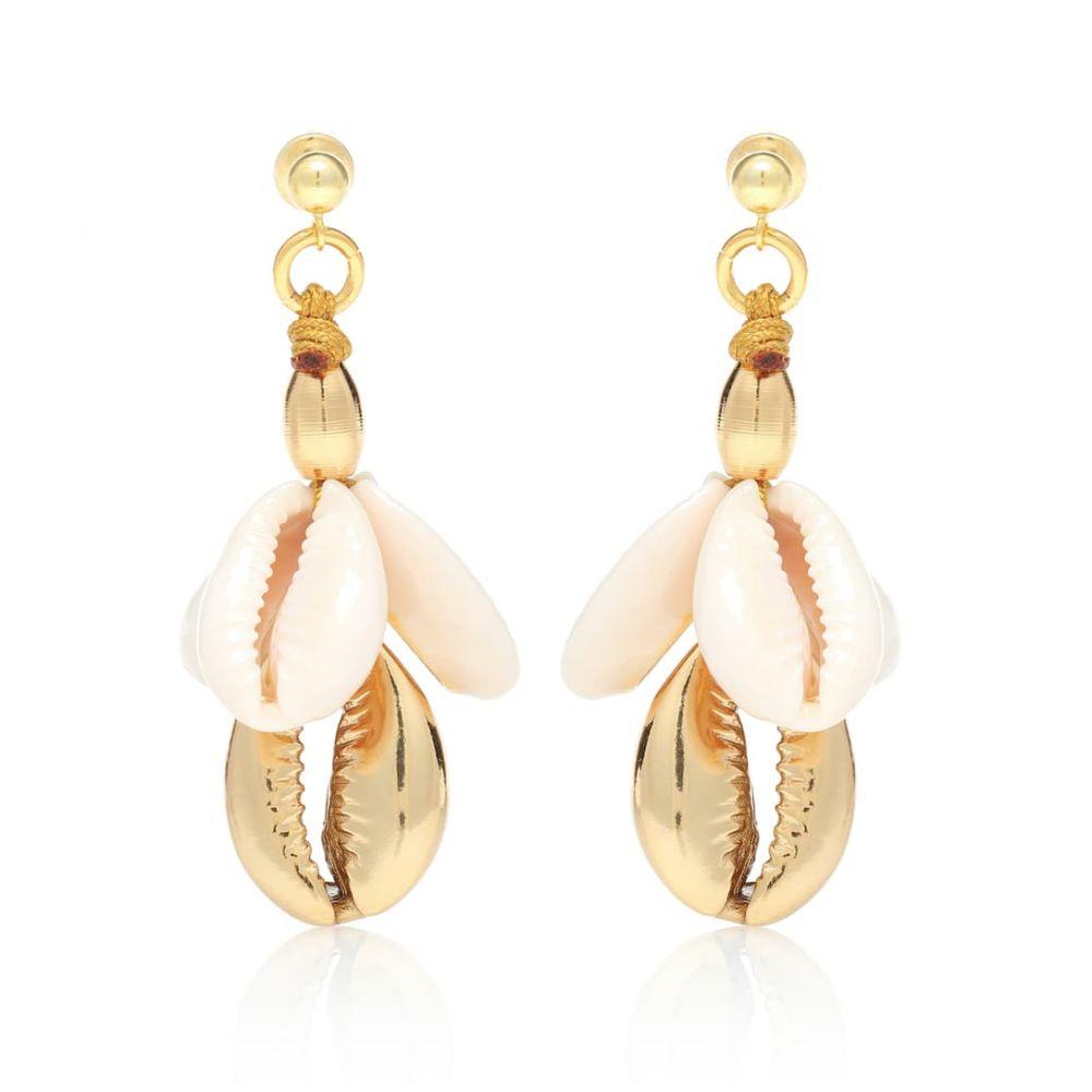 トフム TOHUM Design レディース ジュエリー・アクセサリー イヤリング・ピアス【22kt gold plated cowry shell earrings】