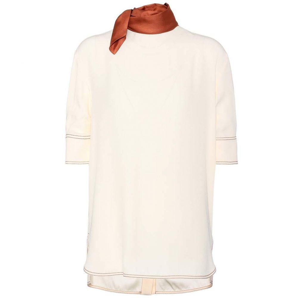 マルニ Marni レディース トップス ブラウス・シャツ【Crepe blouse】Silk White