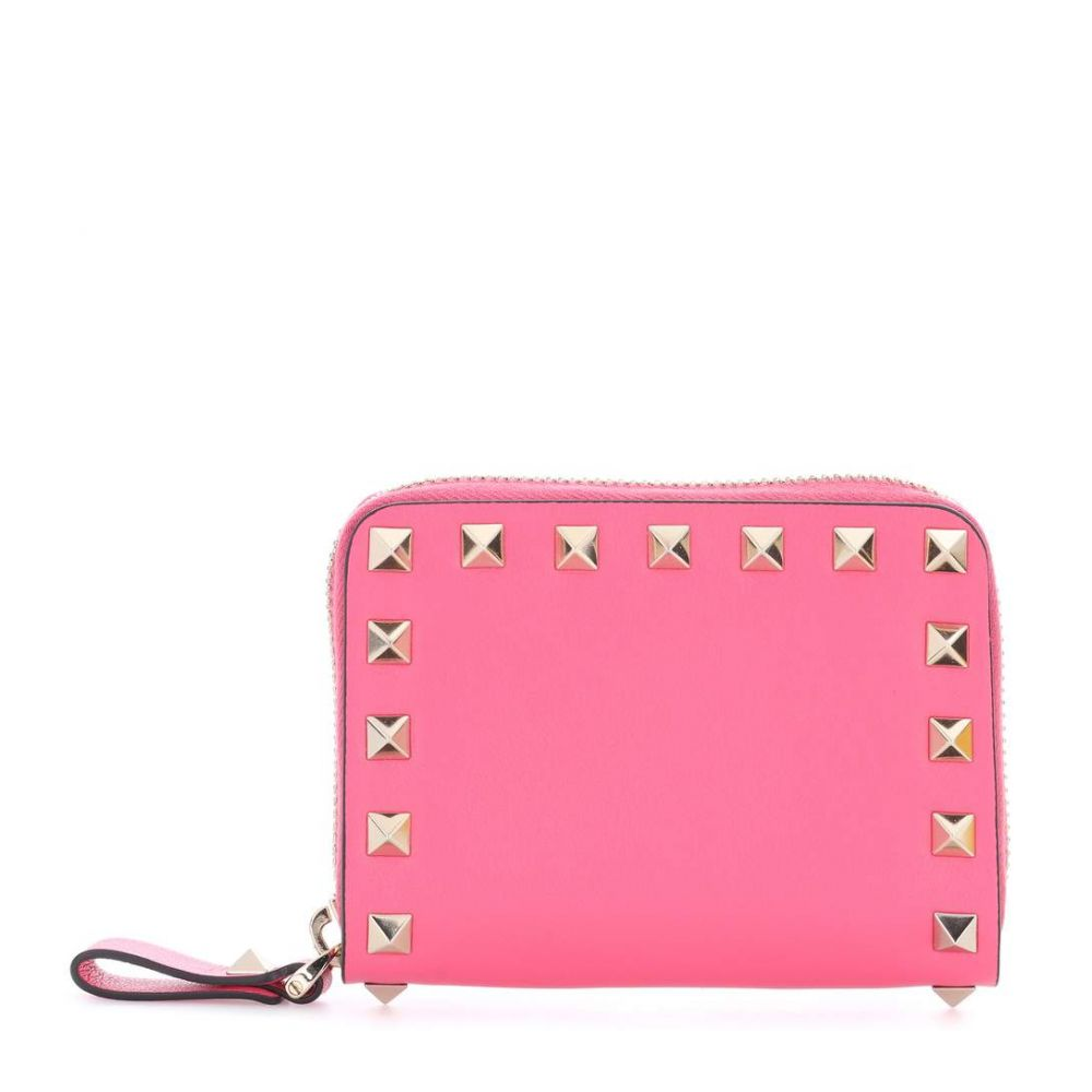 ラウンド  ヴァレンティノ Valentino レディース 財布【Garavani leather wallet】Shadow Pink, エスディーシー 2e060a78