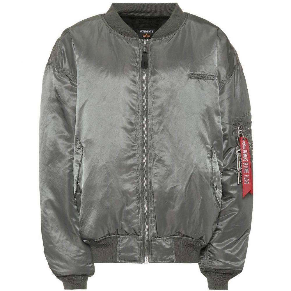 ヴェトモン Vetements レディース アウター ジャケット【x Alpha Industries oversized jacket】silver green