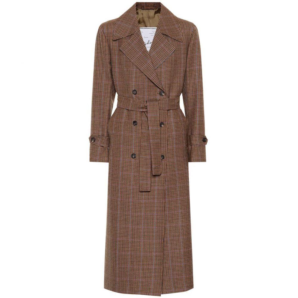ジュリバ ヘリテージ コレクション Giuliva Heritage Collection レディース アウター トレンチコート【The Christie wool trench coat】Small Checked Brown