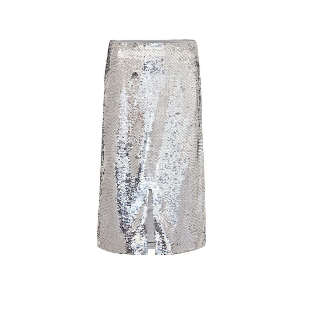 ガニー Ganni レディース スカート ひざ丈スカート【Sequined skirt】silver