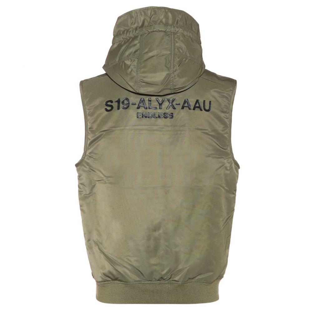 アリクス 1017 ALYX 9SM レディース トップス ベスト・ジレ【MA-1 hooded vest】sage green