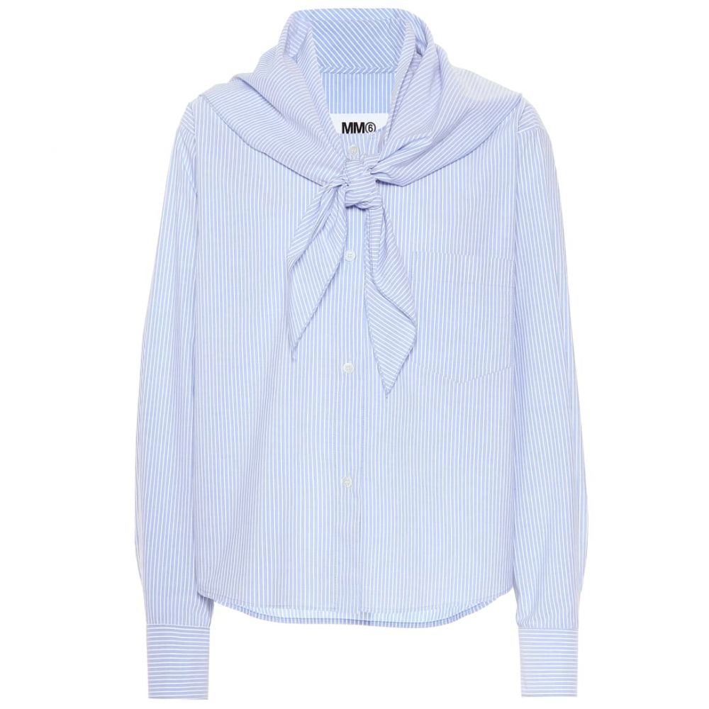 メゾン マルジェラ MM6 Maison Margiela レディース トップス ブラウス・シャツ【Striped cotton shirt】riga
