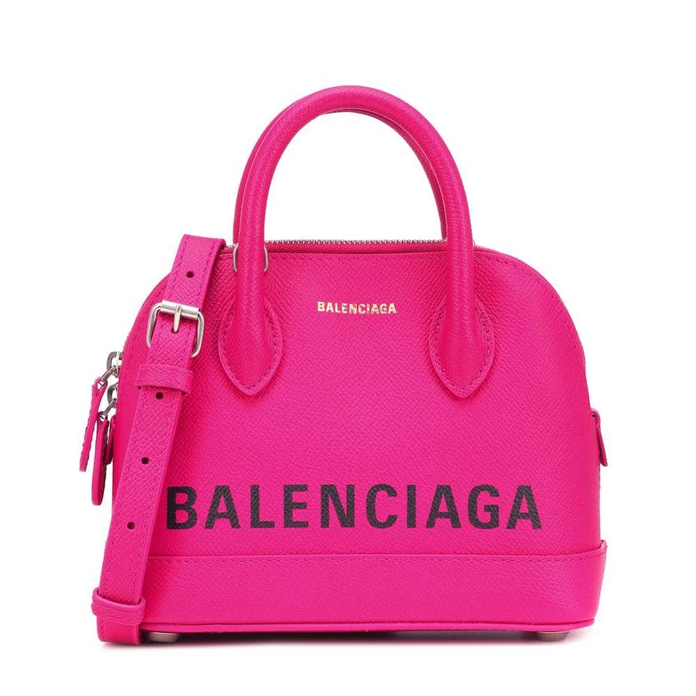 バレンシアガ Balenciaga レディース バッグ トートバッグ【Ville XS leather tote】Rose Magenta/L Noir
