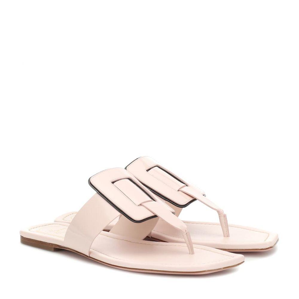 ロジェ ヴィヴィエ Roger Vivier レディース シューズ・靴 サンダル・ミュール【Viv' Sellier patent leather sandals】Rosa Chiaro + Nero