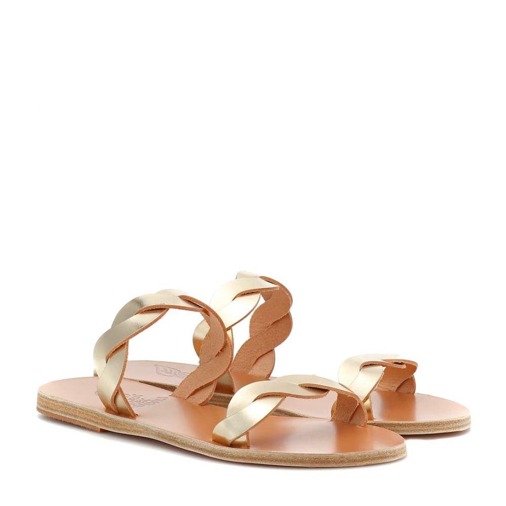 エンシェント グリーク サンダルズ Ancient Greek Sandals レディース シューズ・靴 サンダル・ミュール【Skiriani metallic leather sandals】Platinum