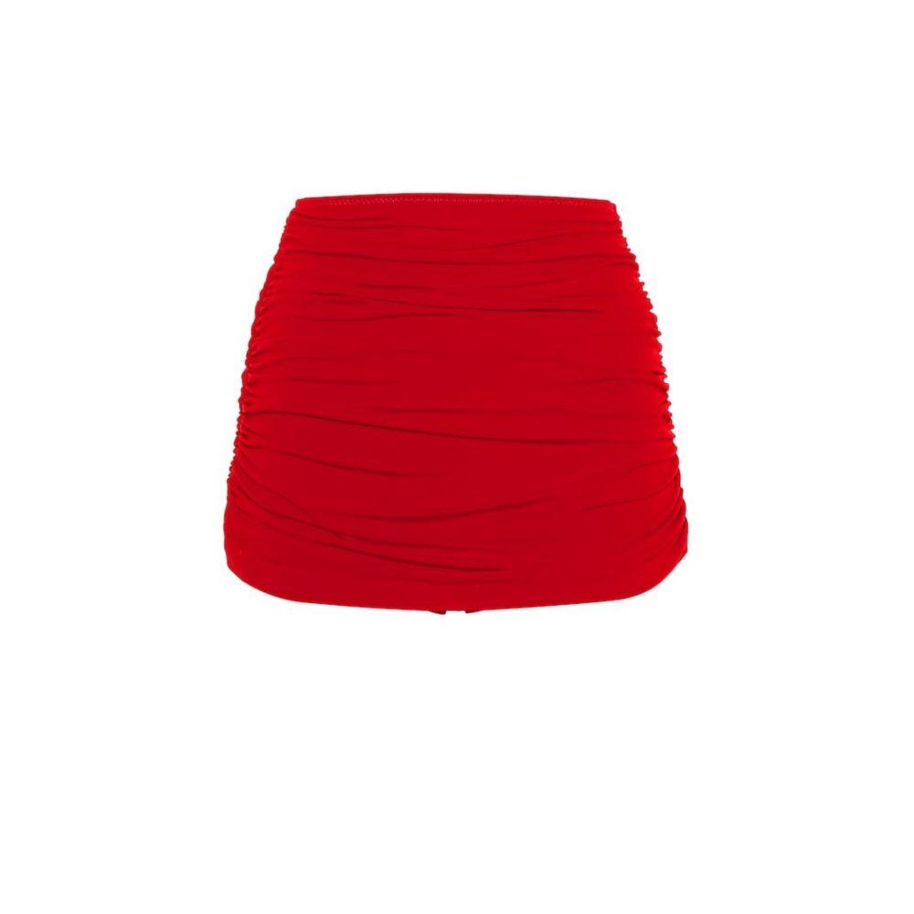 ノーマ カマリ Norma Kamali レディース 水着・ビーチウェア ボトムのみ【Bill high-waisted bikini bottoms】Red
