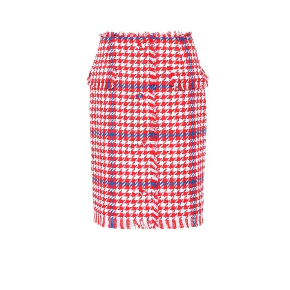 エムエスジーエム MSGM レディース スカート ミニスカート【Houndstooth tweed skirt】red