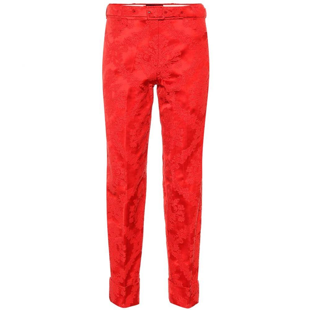 シモーネ ロシャ Simone Rocha レディース ボトムス・パンツ【Jacquard cotton-blend pants】Red