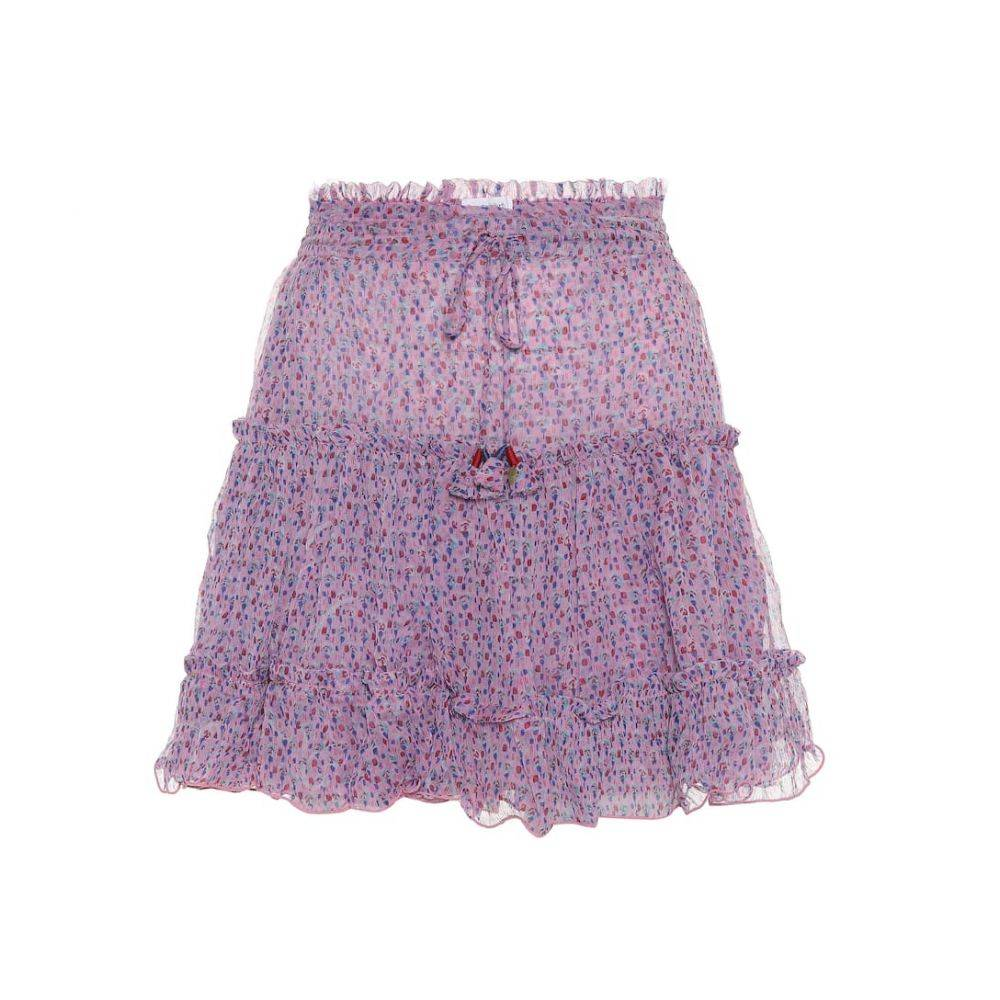 プーペット セント バース Poupette St Barth レディース スカート ミニスカート【Clara printed chiffon miniskirt】Pink Small Geo Flower
