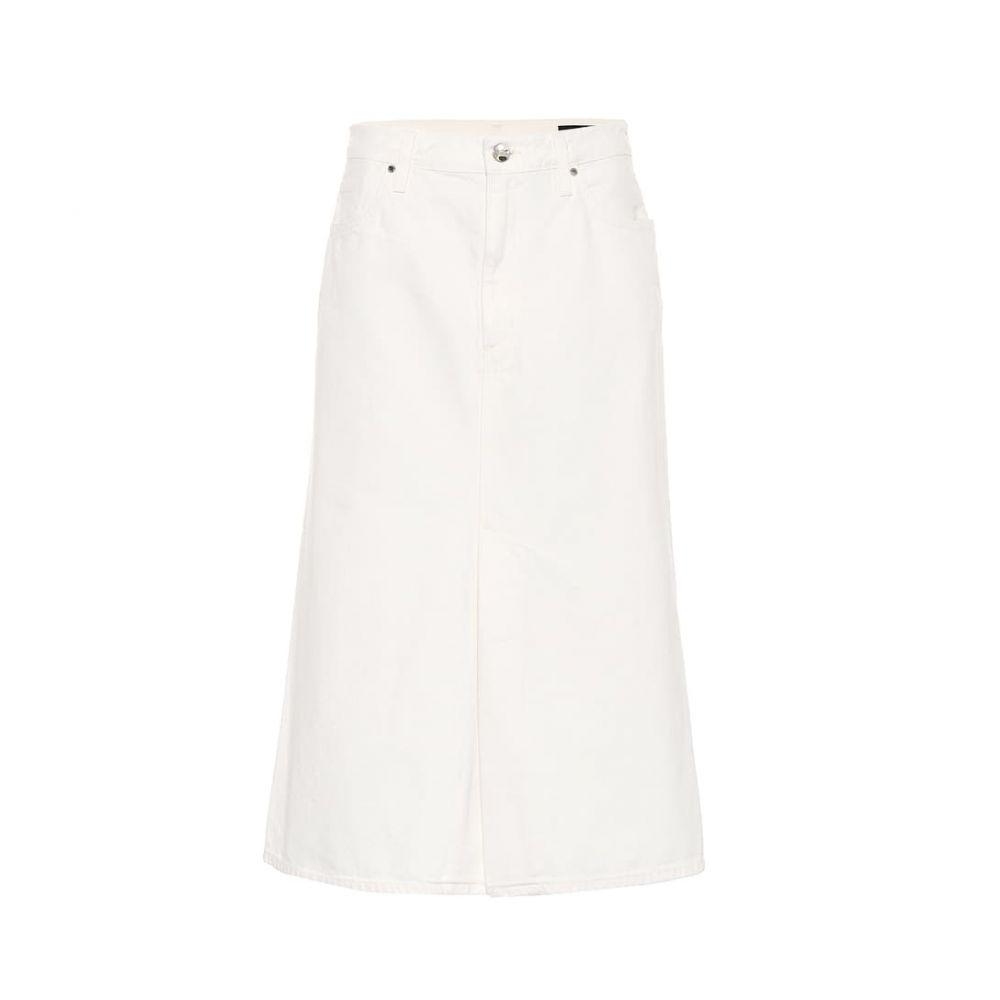ゴールドサイン Goldsign レディース スカート ひざ丈スカート【The A high-rise denim skirt】pearl