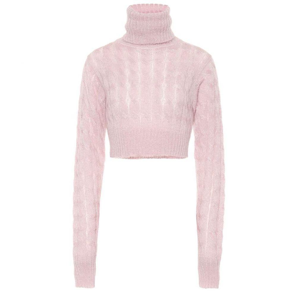 マシュー アダムズ ドーラン Matthew Adams Dolan レディース トップス ニット・セーター【Cropped mohair-blend sweater】Pink