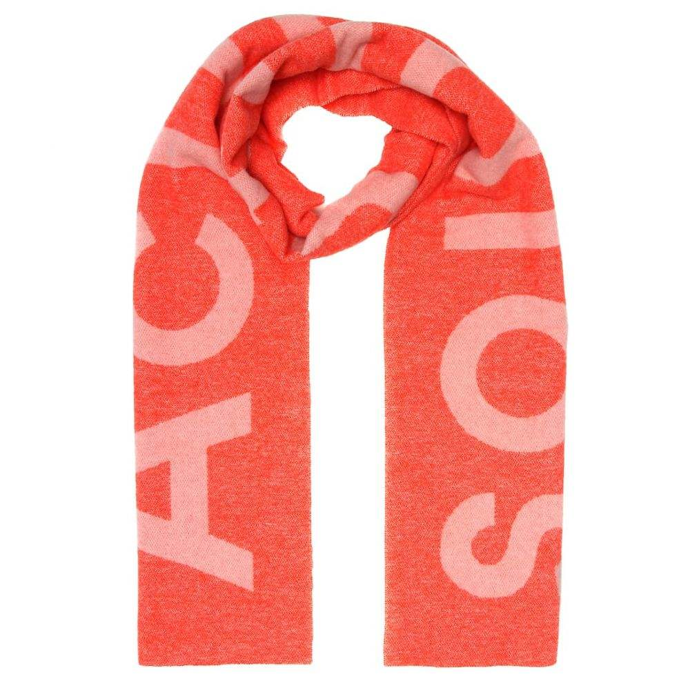 アクネ ストゥディオズ Acne Studios レディース マフラー・スカーフ・ストール【Toronty Logo wool-blend scarf】Pink Off White