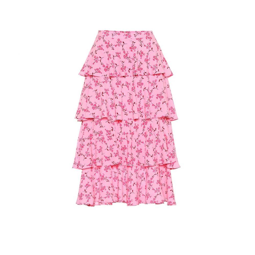 バウム ウンド ヘルガーデン Baum und Pferdgarten レディース スカート ひざ丈スカート【Scarlet floral midi skirt】pink