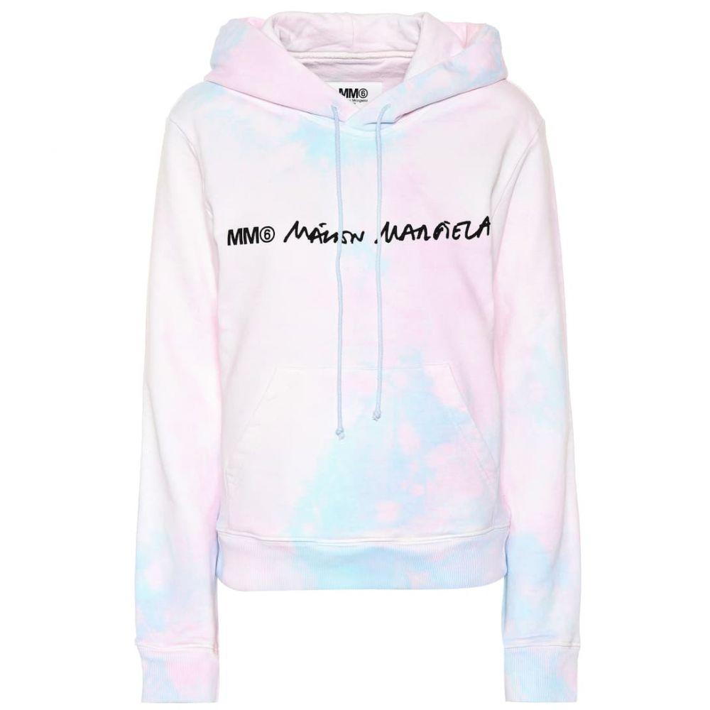 メゾン マルジェラ MM6 Maison Margiela レディース トップス パーカー【Tie-dye cotton hoodie】pink