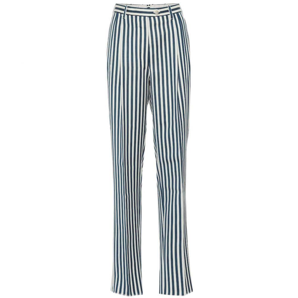 ジュリバ ヘリテージ コレクション Giuliva Heritage Collection レディース ボトムス・パンツ【The Stella striped wool pants】Petrol and Ivory