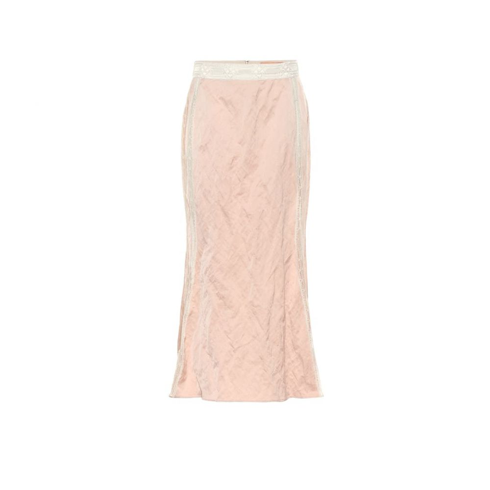 ブロック コレクション Brock Collection レディース スカート ひざ丈スカート【Lace-trimmed midi skirt】Pink