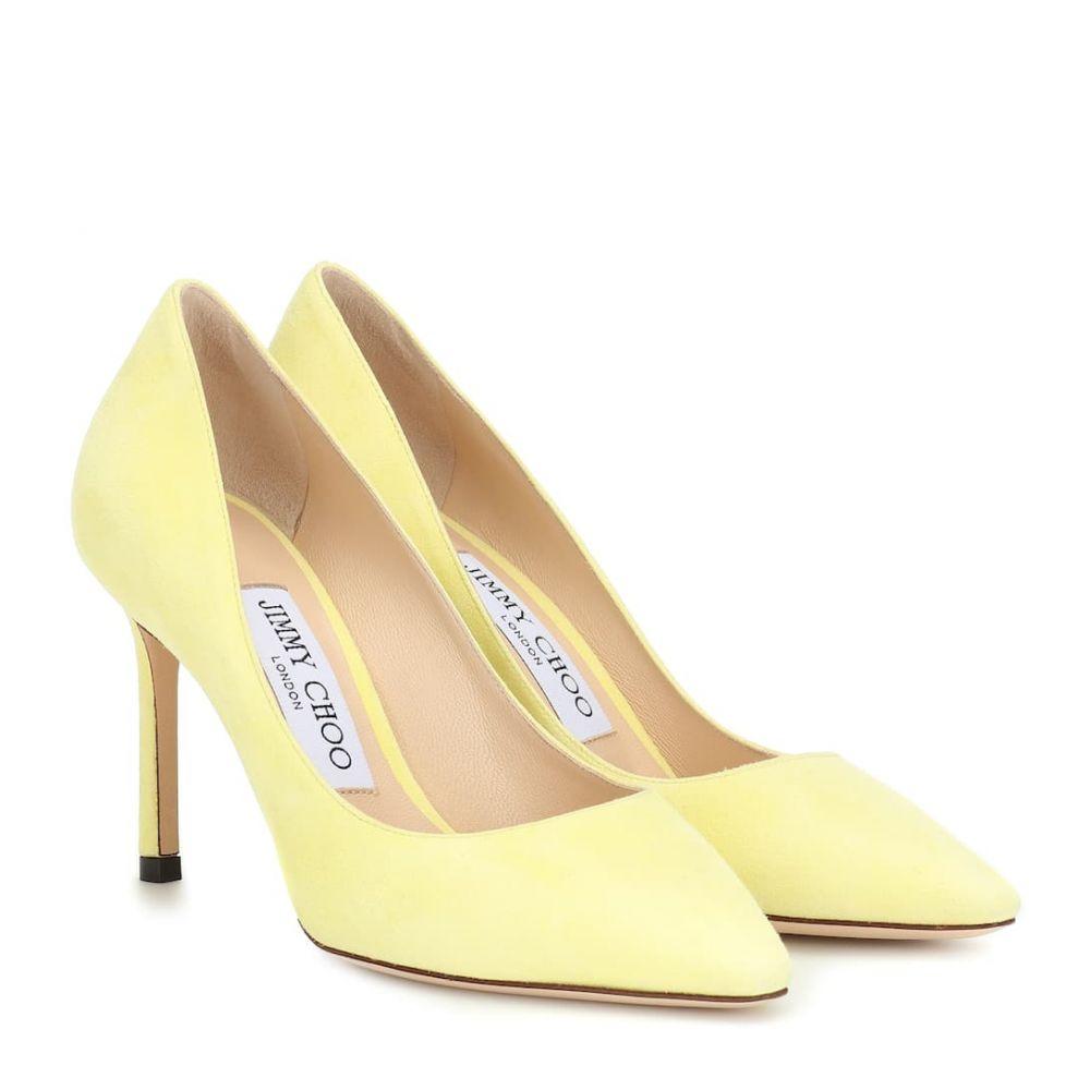 ジミー チュウ Jimmy Choo レディース シューズ・靴 パンプス【Romy 85 suede pumps】Pale Yellow