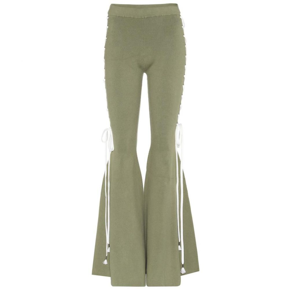 プーマ Fenty by Rihanna レディース ボトムス・パンツ【Cotton-blend flared trousers】Olive Branch