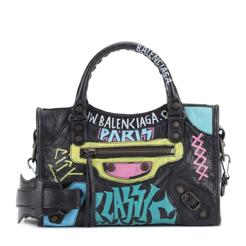 バレンシアガ Balenciaga レディース バッグ トートバッグ【Classic City Graffiti Small leather tote】Noir/Multicolore