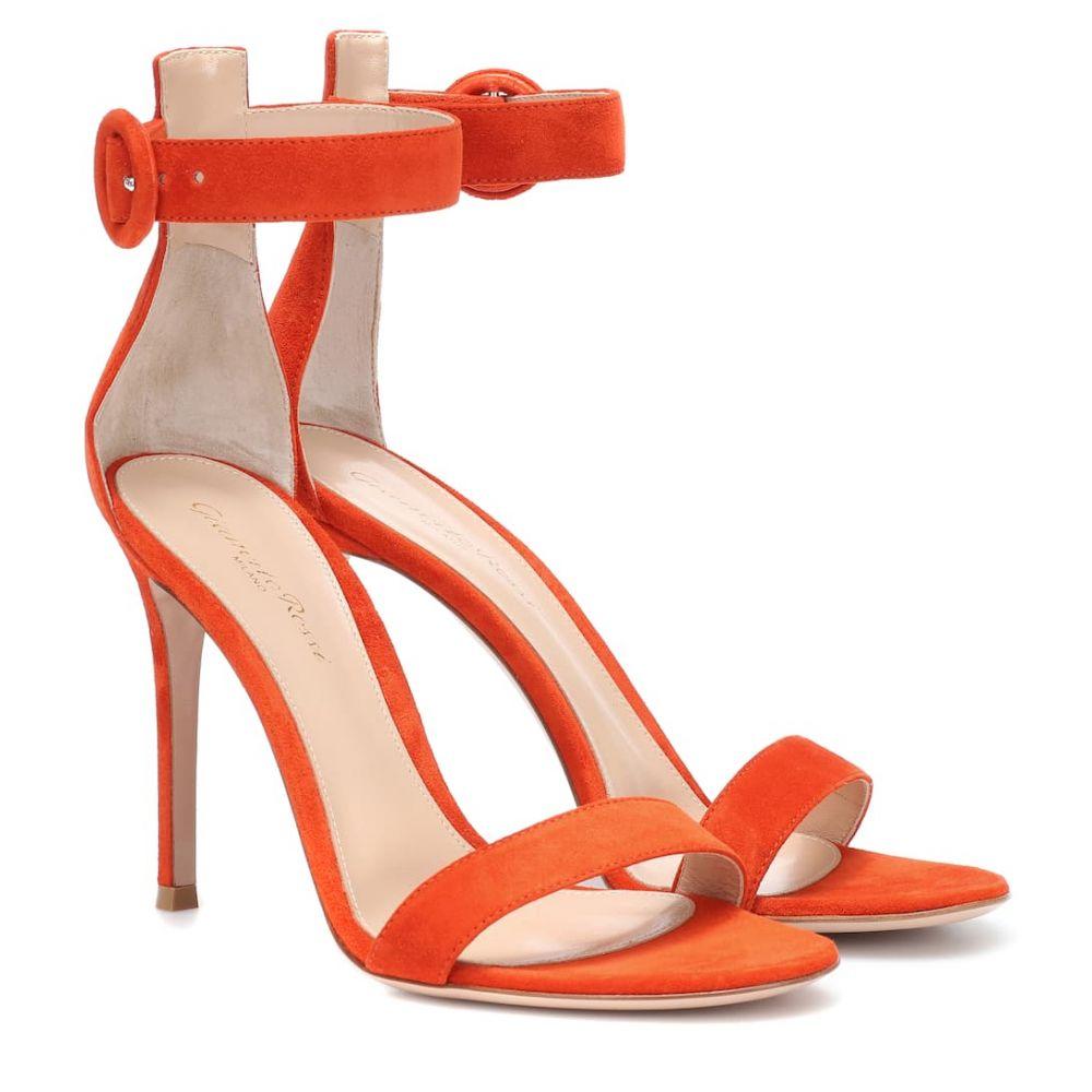 ジャンヴィト ロッシ Gianvito Rossi レディース シューズ・靴 サンダル・ミュール【Portofino suede sandals】Orange