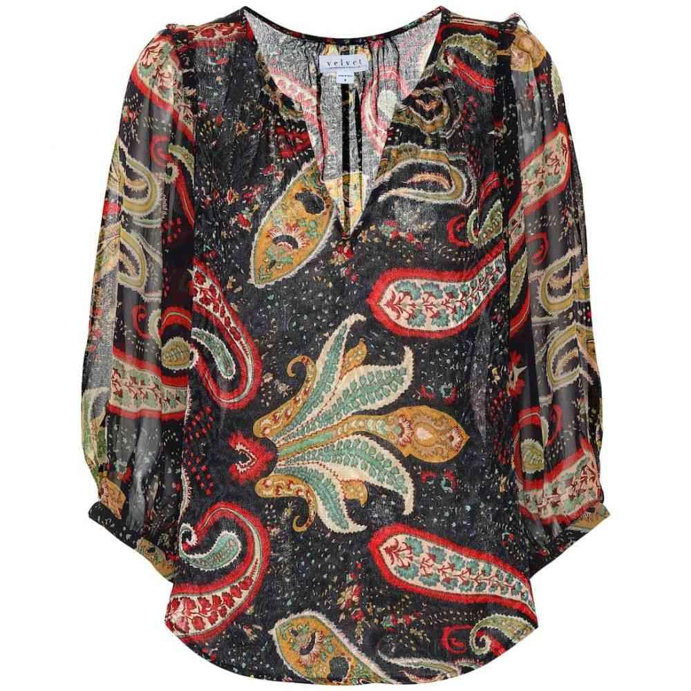 ベルベット グラハム&スペンサー Velvet レディース トップス ブラウス・シャツ【Paola printed crepe blouse】paisley