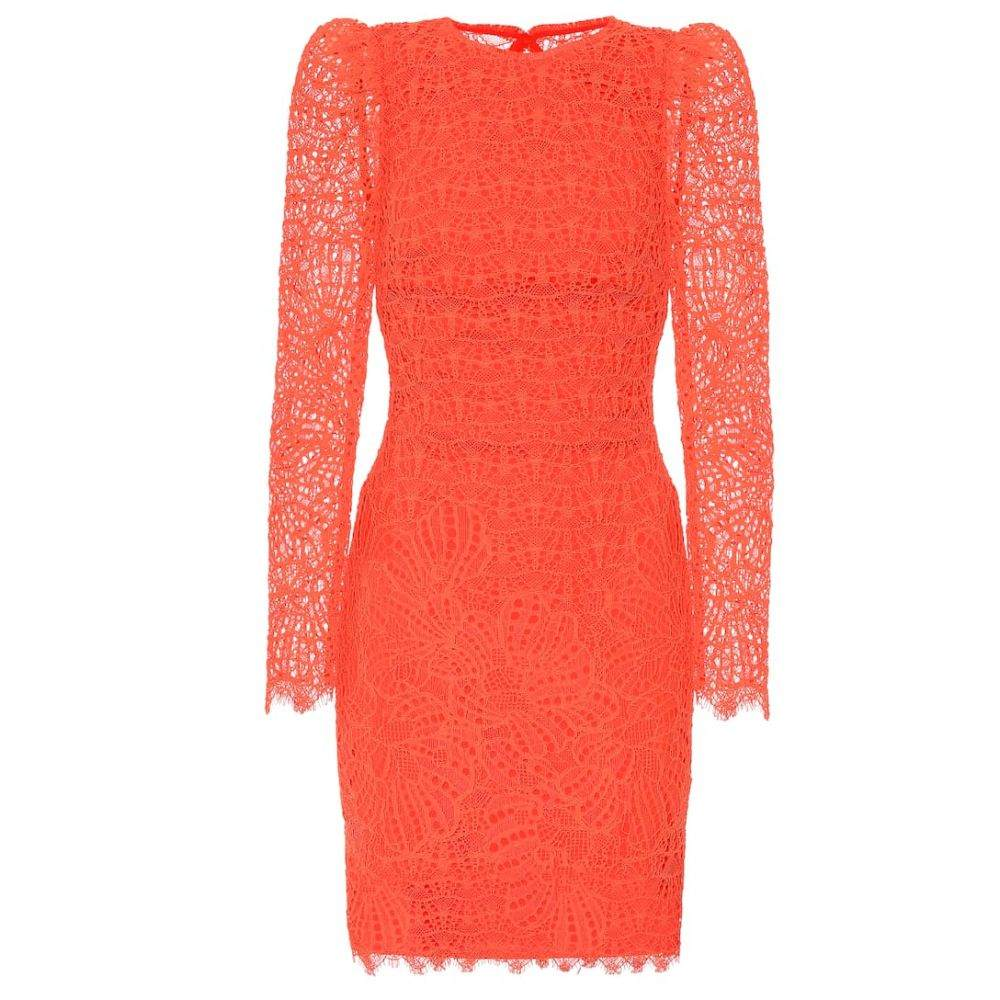 レベッカ ヴァランス Rebecca Vallance レディース ワンピース・ドレス パーティードレス【Mae lace minidress】Orange