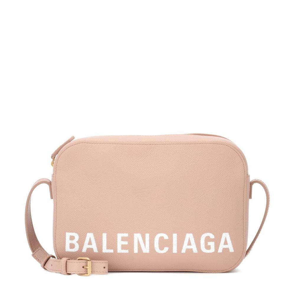 バレンシアガ Balenciaga レディース バッグ【Ville Camera S leather shoulder bag】Nude Beige/ L White