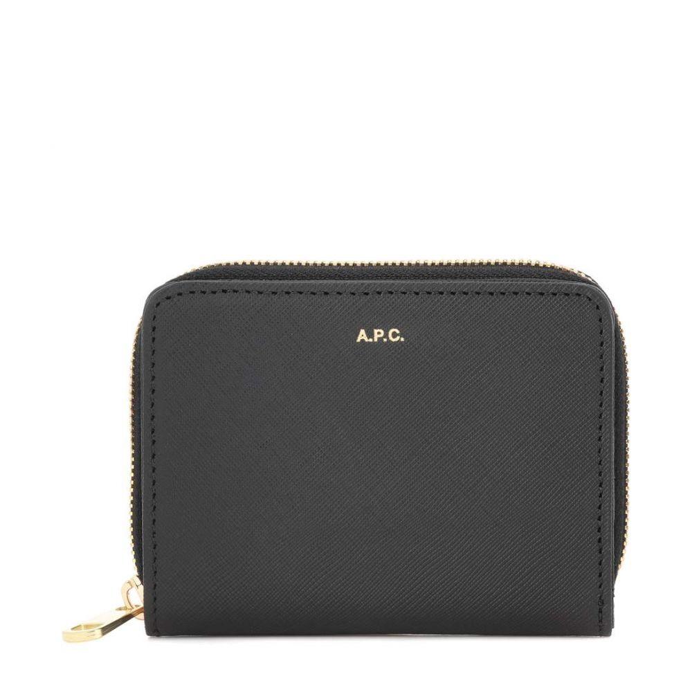アーペーセー A.P.C. レディース 財布【Emmanuelle leather wallet】Noir