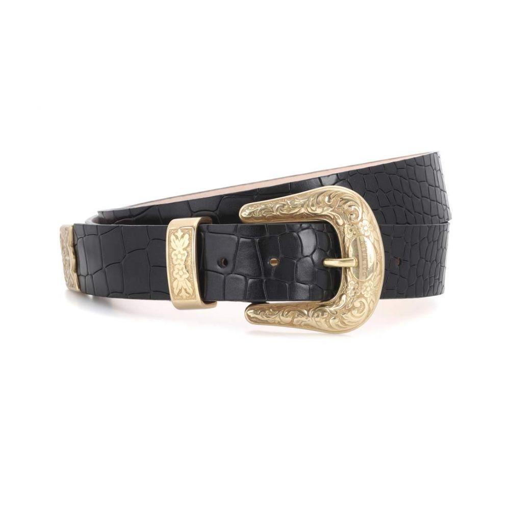 バルマン Balmain レディース ベルト【Embossed leather belt】Noir