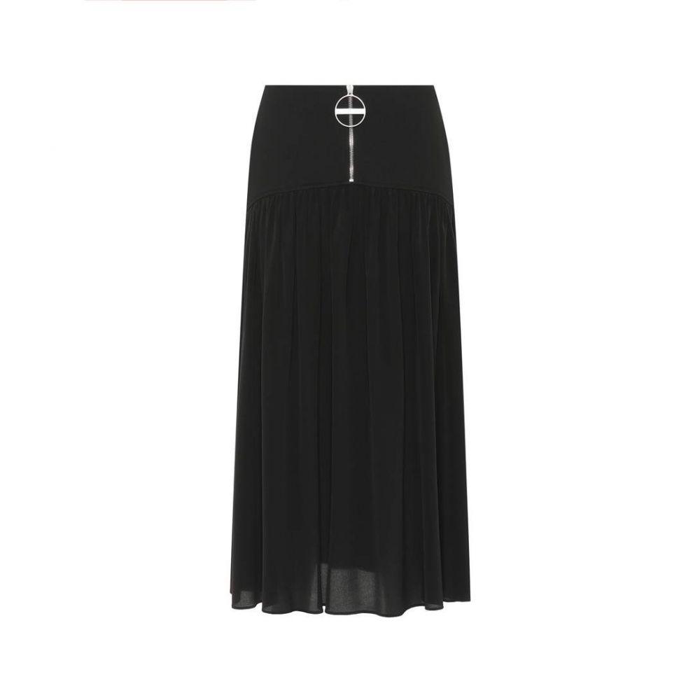 ジバンシー Givenchy レディース スカート【Wool and silk skirt】Noir