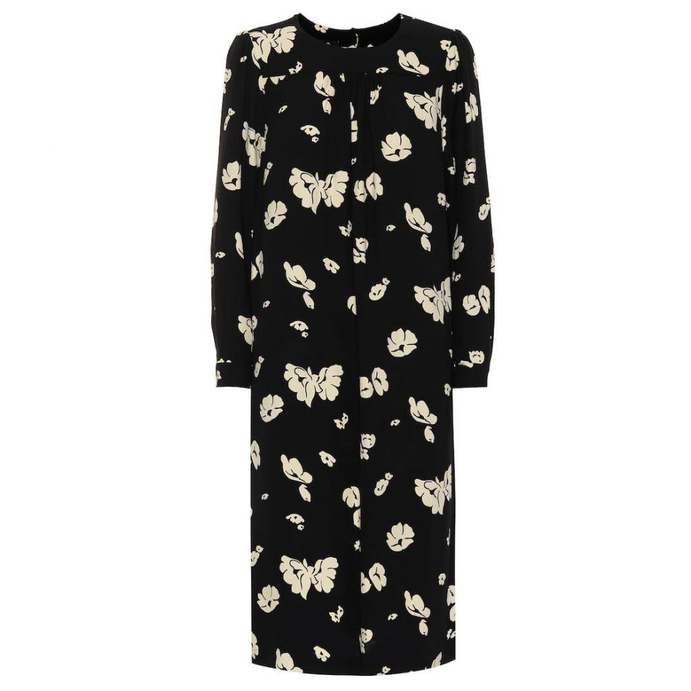 アーペーセー A.P.C. レディース ワンピース・ドレス ワンピース【June floral crepe dress】noir
