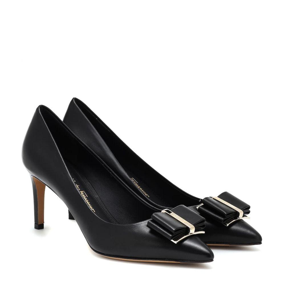 サルヴァトーレ フェラガモ Salvatore Ferragamo レディース シューズ・靴 パンプス【Zeri 70 leather pumps】Nero