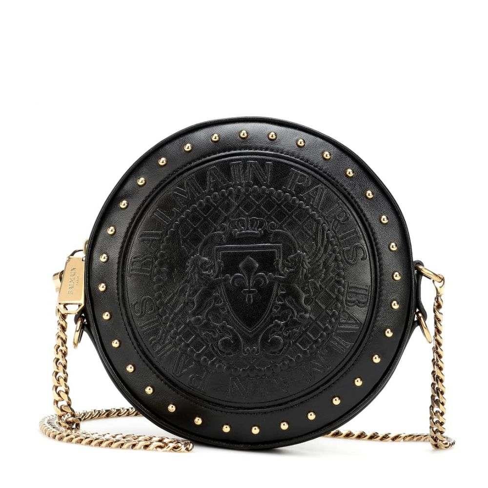 バルマン Balmain レディース バッグ ショルダーバッグ【Disco leather shoulder bag】Noir
