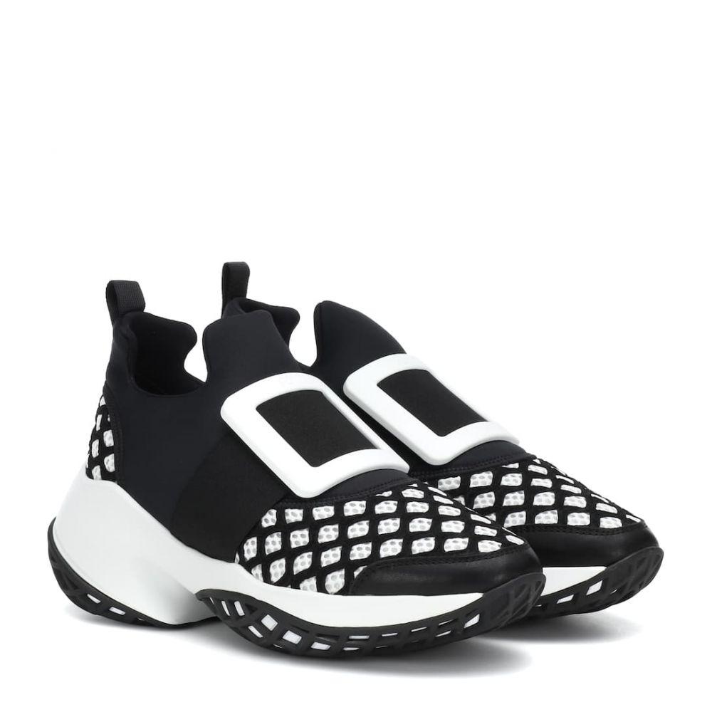 ロジェ ヴィヴィエ Roger Vivier レディース シューズ・靴 スリッポン・フラット【Viv' Run sneakers】Nero + Bianco