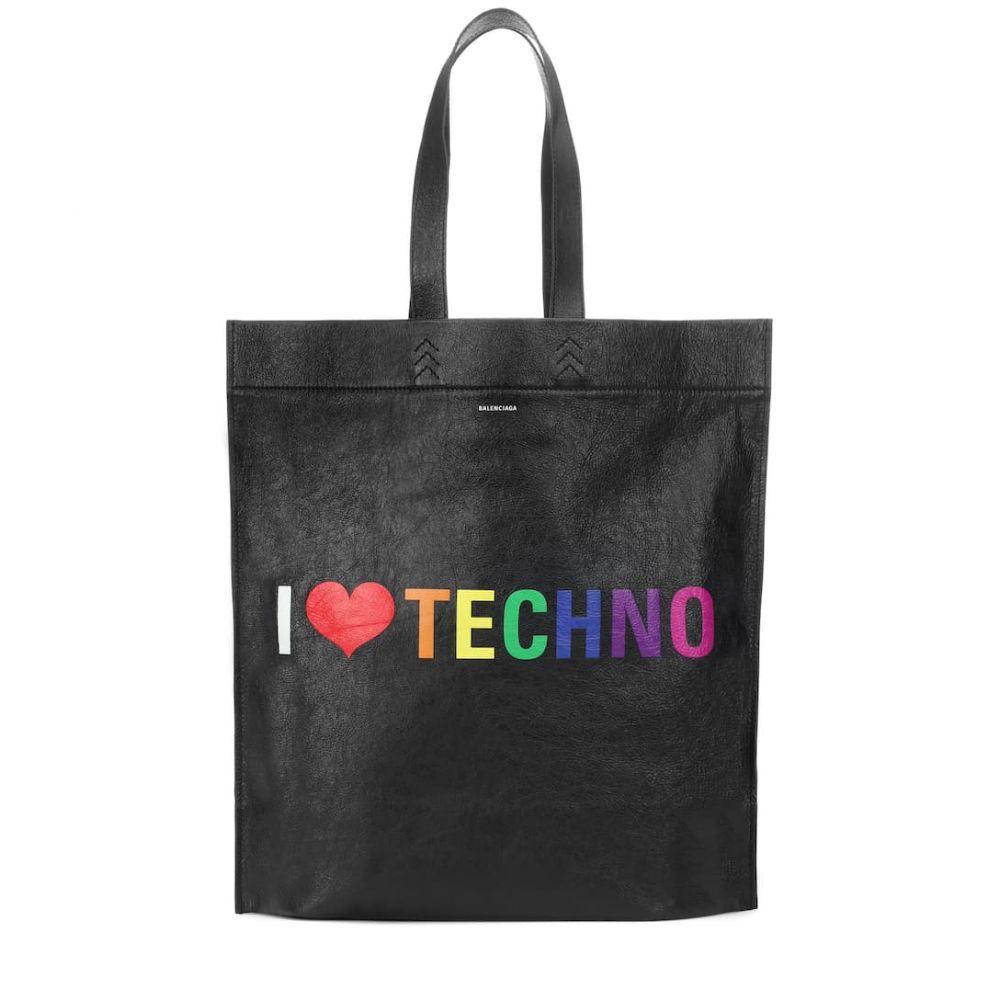 バレンシアガ Balenciaga レディース バッグ トートバッグ【I Love Techno leather shopper】Noir