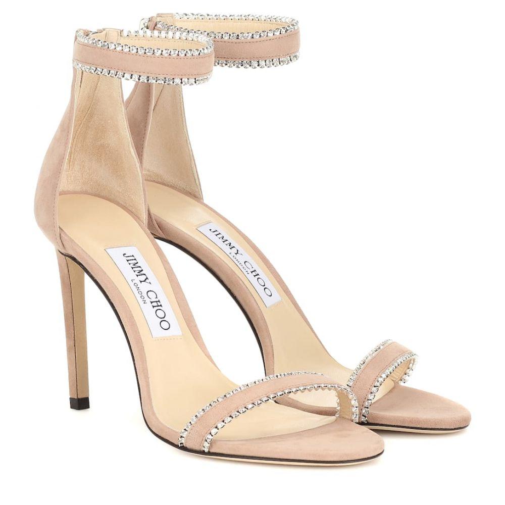 ジミー チュウ Jimmy Choo レディース シューズ・靴 サンダル・ミュール【Dochas 100 suede sandals】Ballet Pink