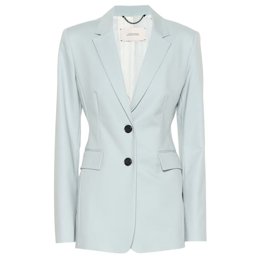 ドロシー シューマッハ Dorothee Schumacher レディース アウター スーツ・ジャケット【Bold Silhouette cotton blazer】Vacation Blue