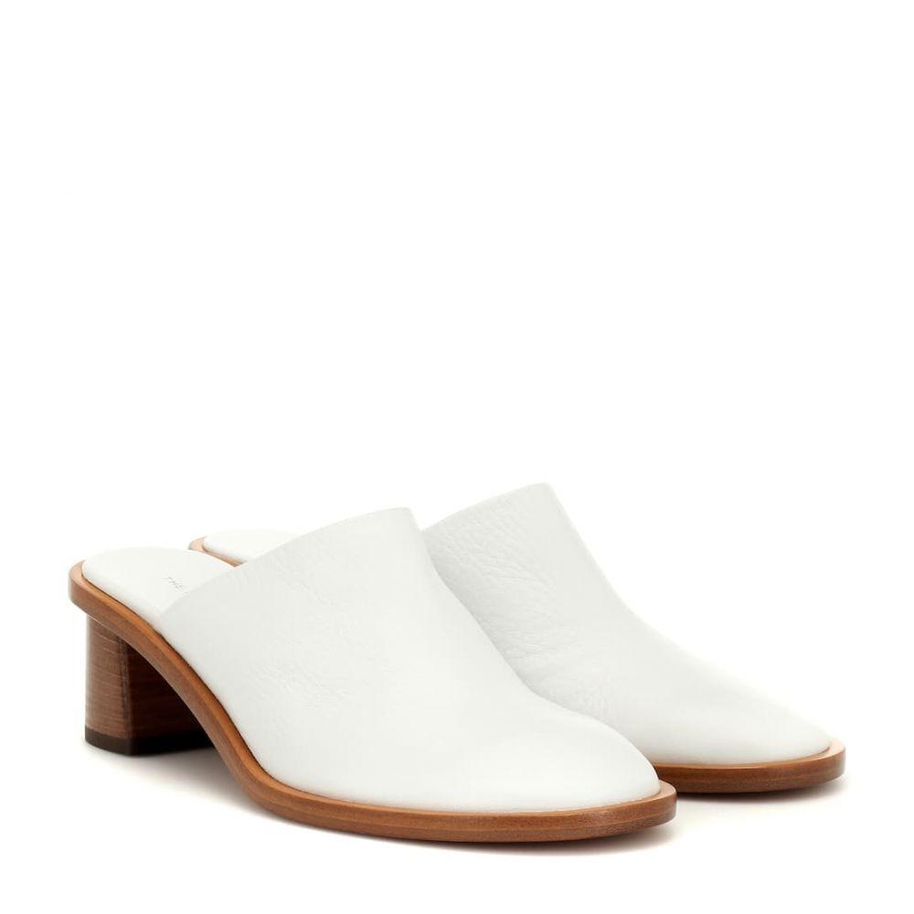 ザ ロウ The Row レディース シューズ・靴 サンダル・ミュール【Teatime Clog leather mules】White