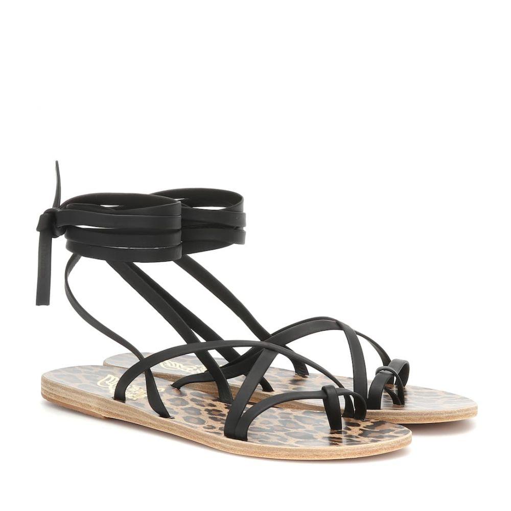 エンシェント グリーク サンダルズ Ancient Greek Sandals レディース シューズ・靴 サンダル・ミュール【Morfi leather sandals】black / leopard sole