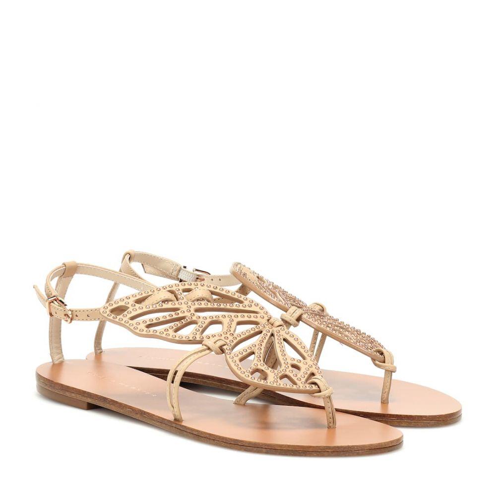 ソフィア ウェブスター Sophia Webster レディース シューズ・靴 サンダル・ミュール【Bibi Butterfly leather sandals】Camel Rose Gold