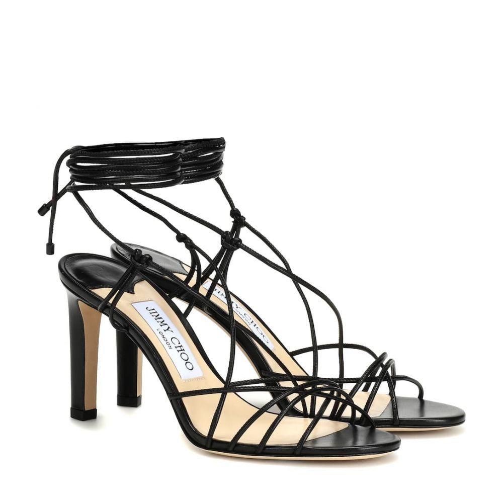 ジミー チュウ Jimmy Choo レディース シューズ・靴 サンダル・ミュール【Tao 85 leather sandals】black