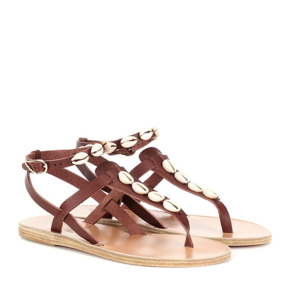 エンシェント グリーク サンダルズ Ancient Greek Sandals レディース シューズ・靴 サンダル・ミュール【Estia embellished leather sandals】Chestnut
