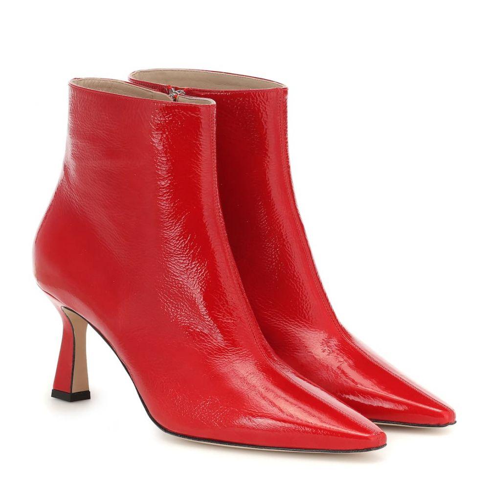 ワンダラー Wandler レディース シューズ・靴 ブーツ【Lina leather ankle boots】Shiny Red