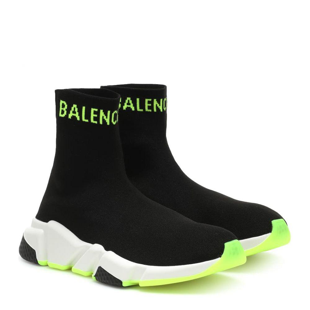 バレンシアガ Balenciaga レディース シューズ・靴 スリッポン・フラット【Speed sneakers】Black Yellow Fluo