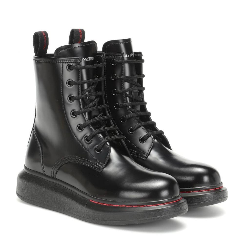 アレキサンダー マックイーン Alexander McQueen レディース シューズ・靴 ブーツ【Leather ankle boots】Black/Black